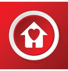 Beloved house icon on red vector