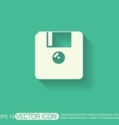 Floppy diskette symbol store information document vector