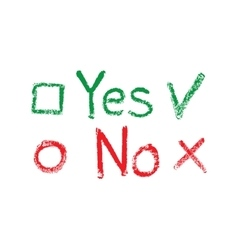 Yes no check boxes vector