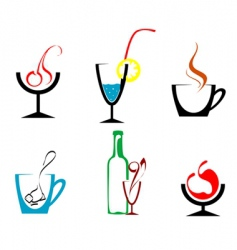 Beverages and drinks vector