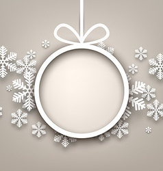 Christmas background with round copyspace vector