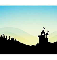 Silhouette castle vector
