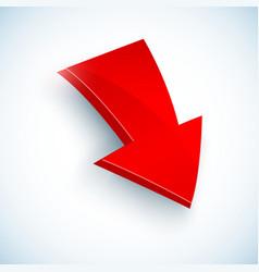 Big red arrow icon vector