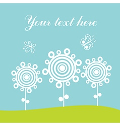 Greeting card spring theme vector
