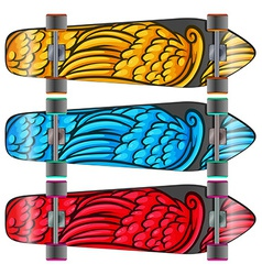 Colourful boards vector