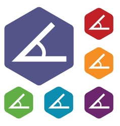 Sign of the angle rhombus icons vector