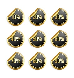 Bargain stickers vector