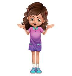 A cute schoolgirl with hairclips vector