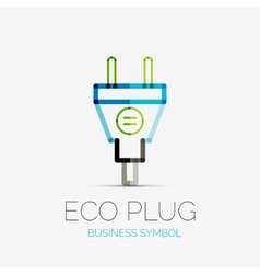 Eco plug company logo business concept vector