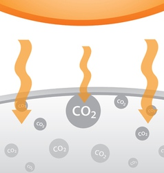 Carbon dioxide in atmosphere vector