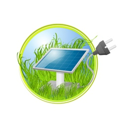 Solar green panel logo vector