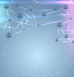 Social user network structure web background vector