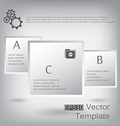 3d paper square elements for infographic vector