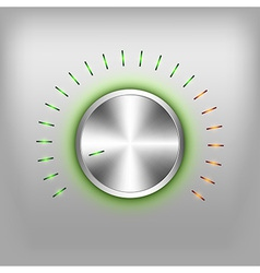 Volume button neon green vector