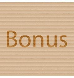 Bonus icon symbol flat modern web design with long vector