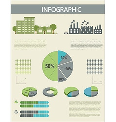 An infographics with pie graphs vector