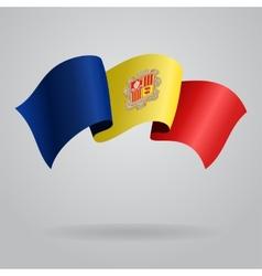 Andorran waving flag vector