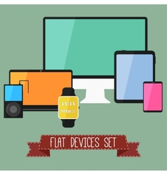 Set of modern business ui devices vector