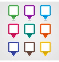 Set of colorful rectangle pins vector