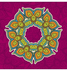 Colored vintage circular pattern of indian vector