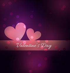 Simple and beautiful valentine day background vector