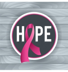 Breast cancer hope theme vector