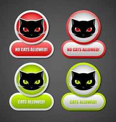 Cats permission icons vector