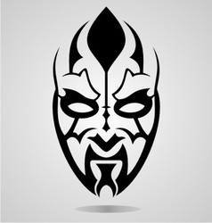 Mask tattoo design vector