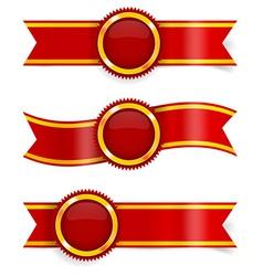 Set of red award ribbons vector