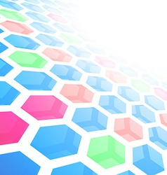 Perspective hexagon abstract tile background vector