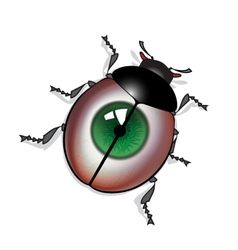Eye bug vector