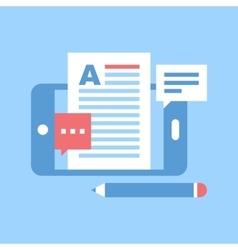 Mobile blogging vector