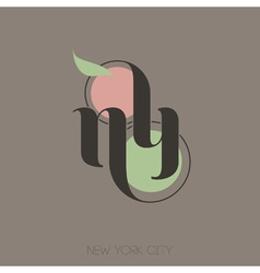 New york city hand lettering vector