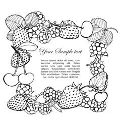 Frame of berries vector
