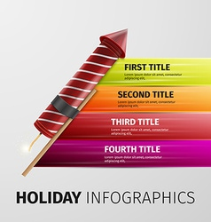 Holiday infographics vector