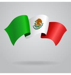 Mexican waving flag vector