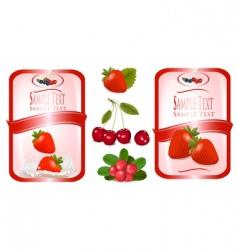 Food labels vector