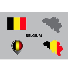 Map of belgium and symbol vector
