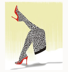 Stockings with cheetah pattern vector
