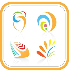Abstract internet icon vector