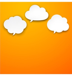Set of paper white clouds vector