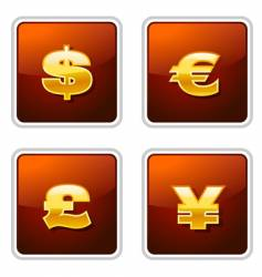 Currency icons vector