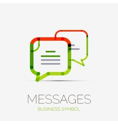 Message clouds company logo business concept vector