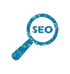 Grunge searching seo icon vector
