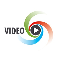 Abstract logo to view the video vector