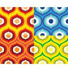 Scandinavian retro pattern vector