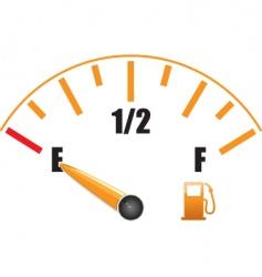 Petrol gauge vector