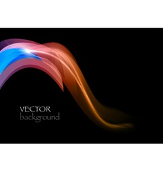 Wave dark curve orange and blue vector