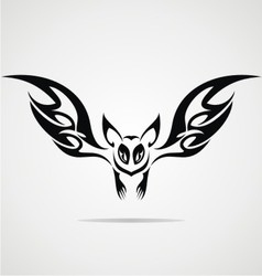 Bat tattoo design vector