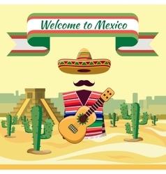 Welcome to mexico vector